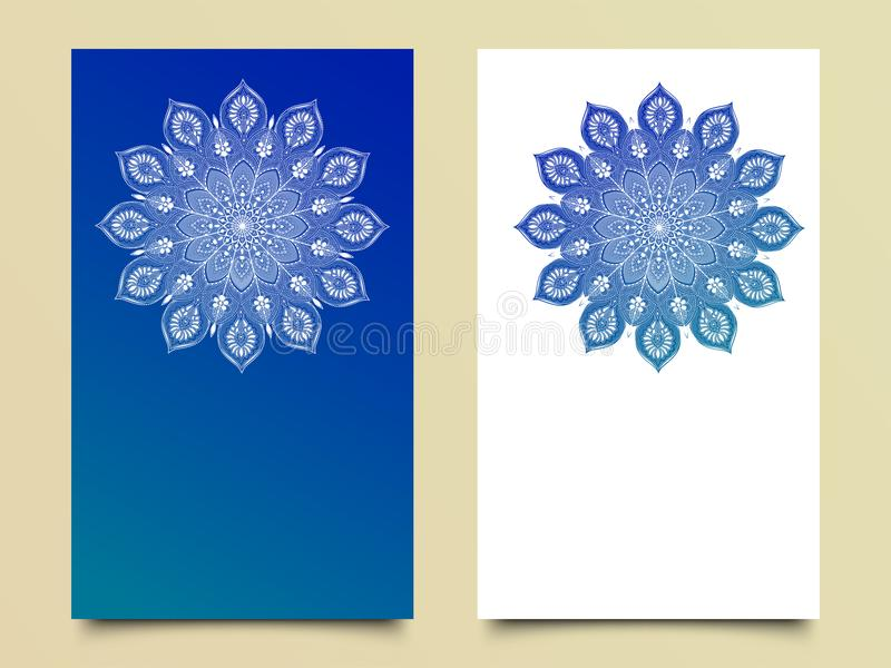 Glossy mandala design in two different color. royalty free illustration