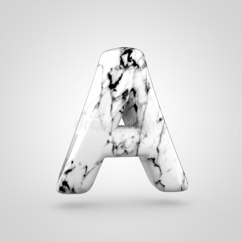Glossy Marble Alphabet Letter A Uppercase Isolated On