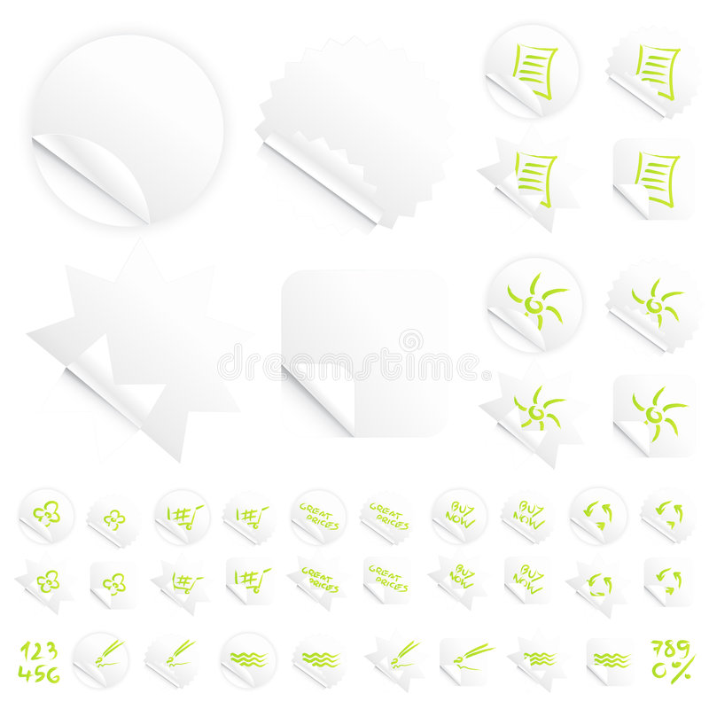 Download Glossy Modern White Slick Retail Stickers Stock Vector - Image: 5628845