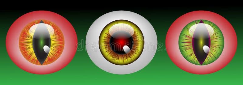 Glossy Monster Eyeballs Stock Photography