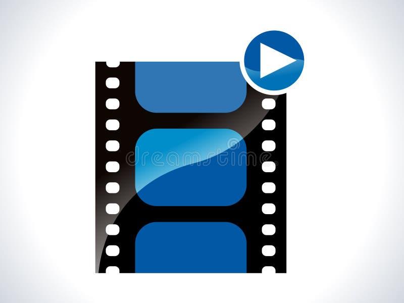 Glossy movie icon stock illustration