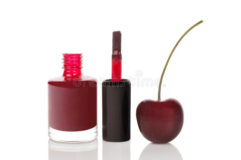 Glossy nail polish bottle stock image. Image of polish - 99811181