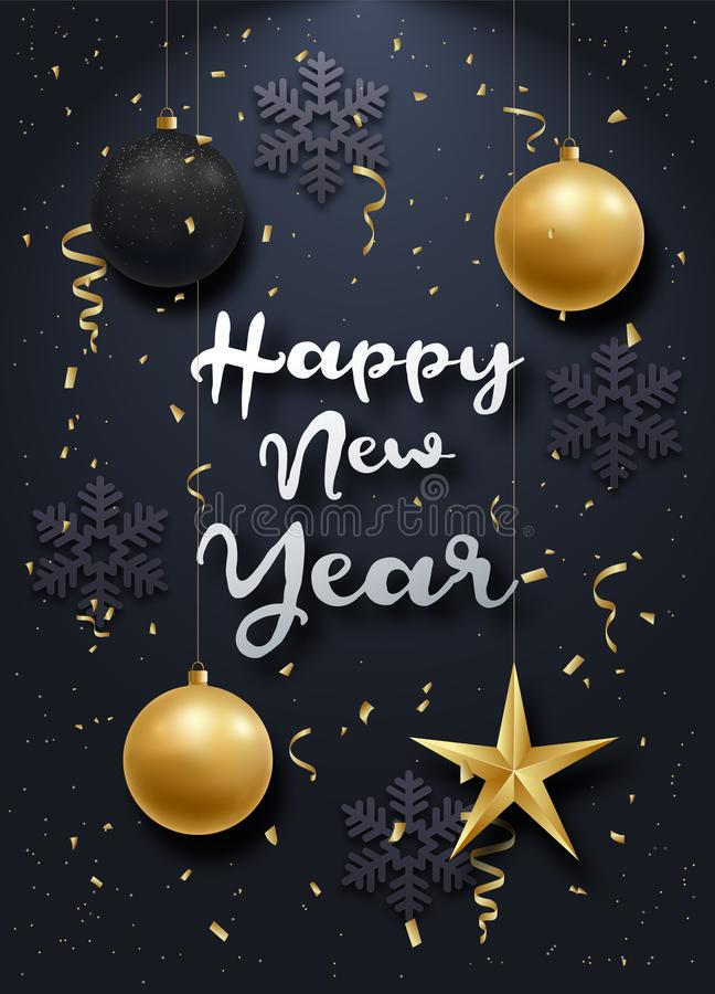 Glossy New Year background stock illustration