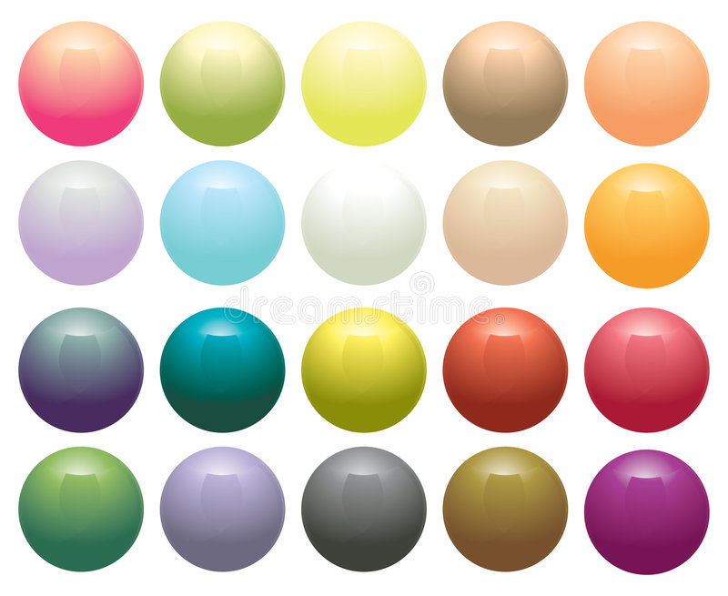 Glossy Opaque circular buttons royalty free illustration