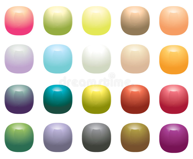Glossy Opaque square buttons royalty free illustration