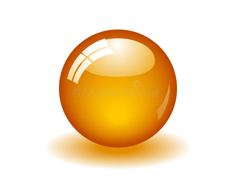 Download Glossy Orange Ball stock vector. Illustration of citrus - 10162408