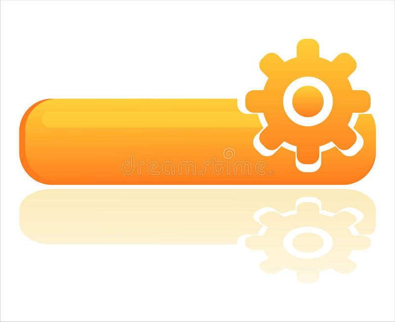 Download Glossy Orange Settings Banner Royalty Free Stock Photo - Image: 19098995