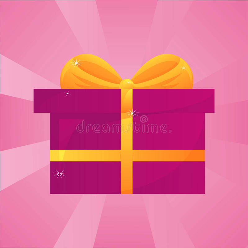 Glossy Present Background Royalty Free Stock Photography