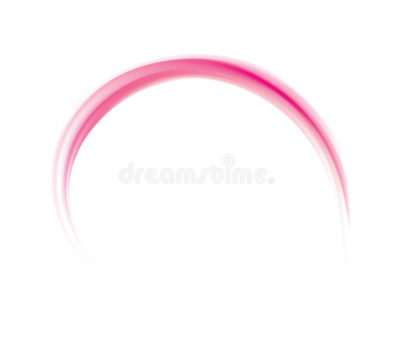 Abstract vector spiral background crimson colour. Glossy radial curvy wine backdrop with glowing center. Twirl permanganic gel fluid pink caramel surface royalty free illustration