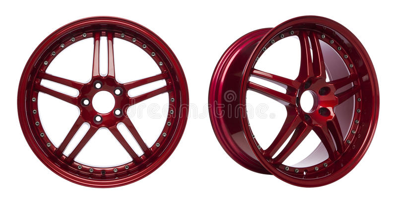 Glossy Red Alloy Wheels