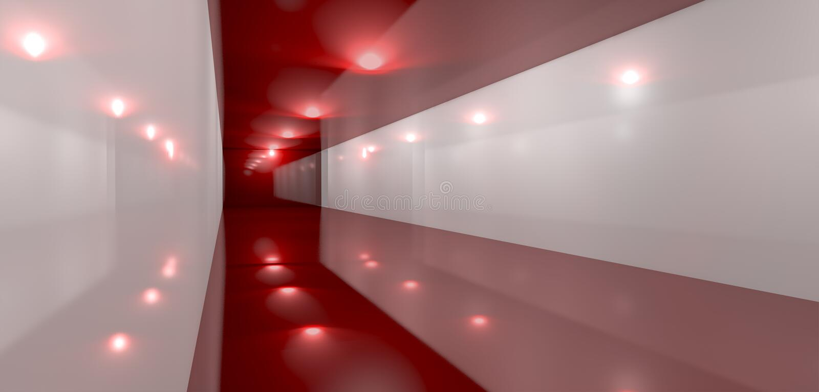Download Glossy Red Room Perspective Side Stock Photos - Image: 32197543