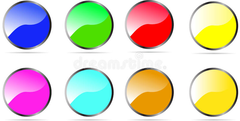 Glossy Rounded Button royalty free illustration