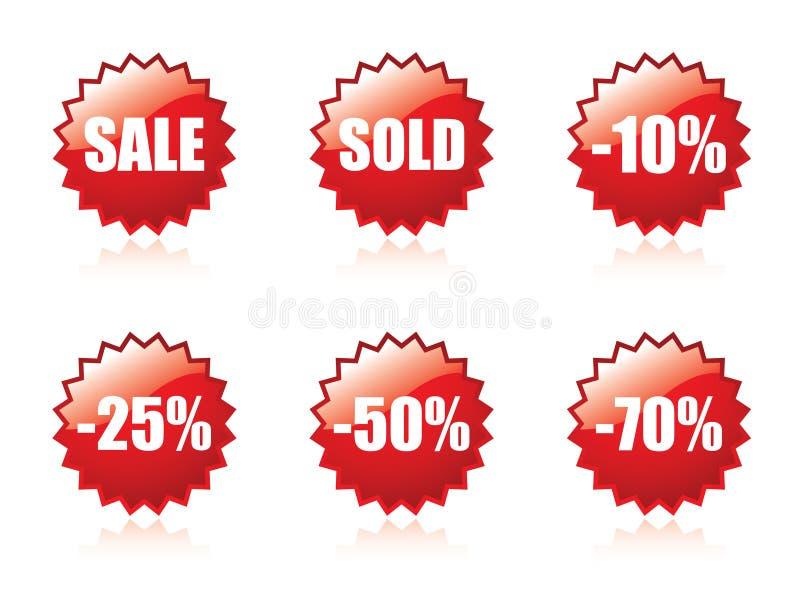 Glossy Sale Sticker Set. Stock Photography