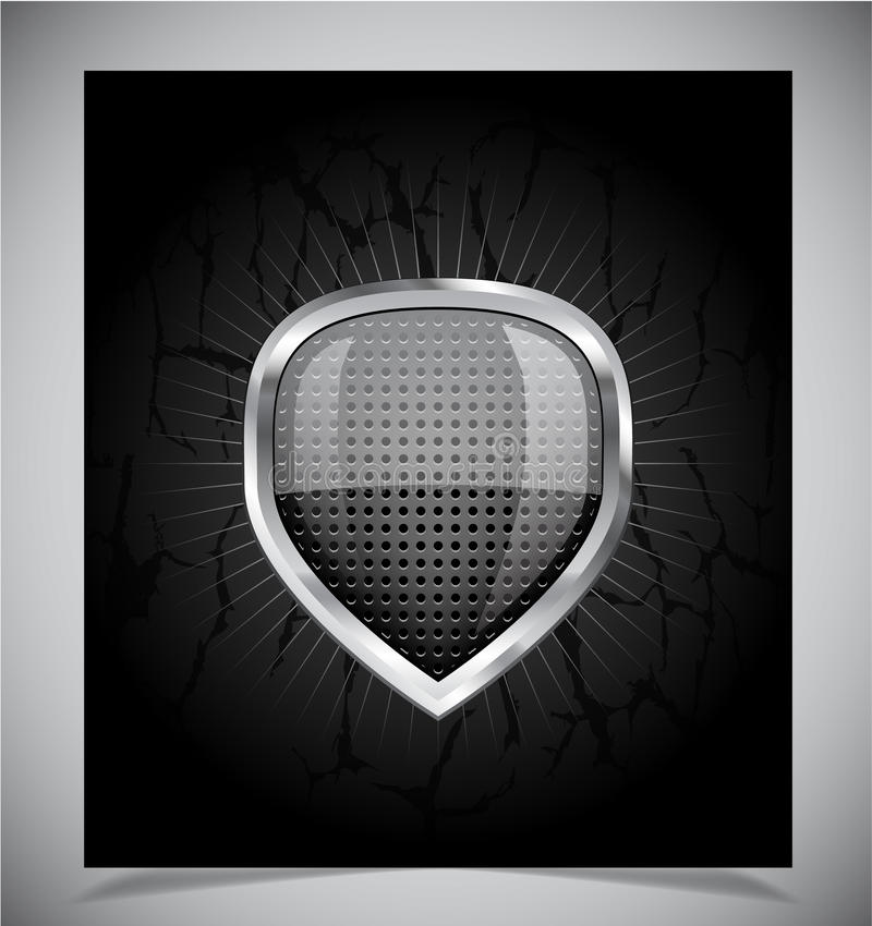 Download Glossy Shield Emblem On Black Background Stock Vector - Image: 24576328