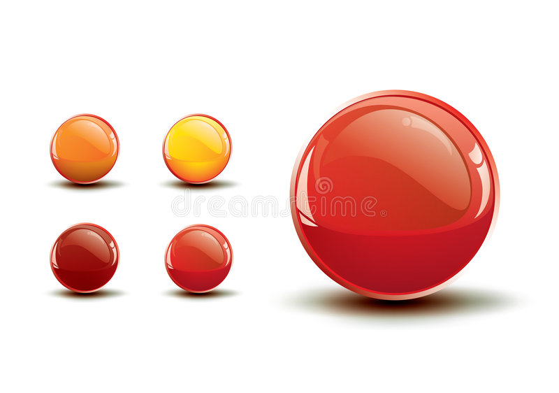 Glossy shiny buttons / vector icon stock illustration
