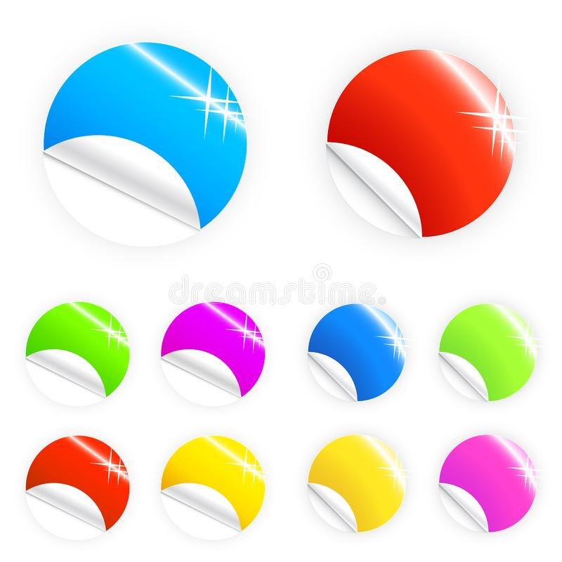 Glossy and shiny retail buttons stock photo