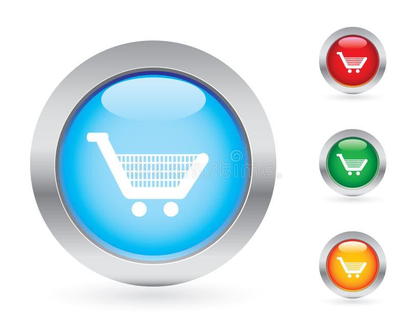 Glossy shopping button set