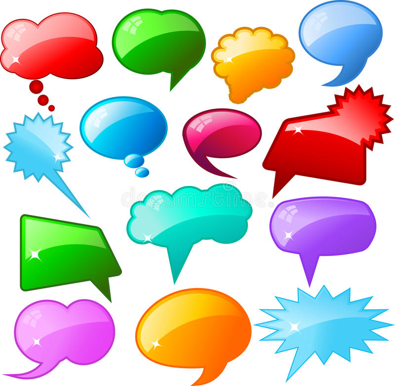 Glossy speech bubbles royalty free illustration
