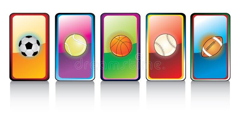 Glossy Sports Ball Royalty Free Stock Photography