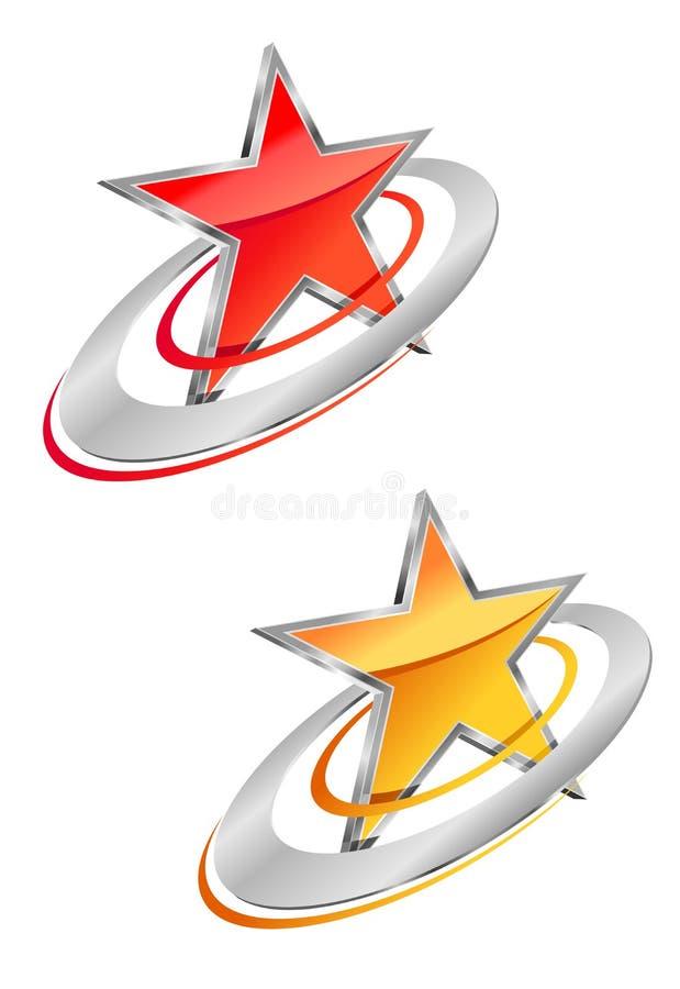 Glossy star vector illustration