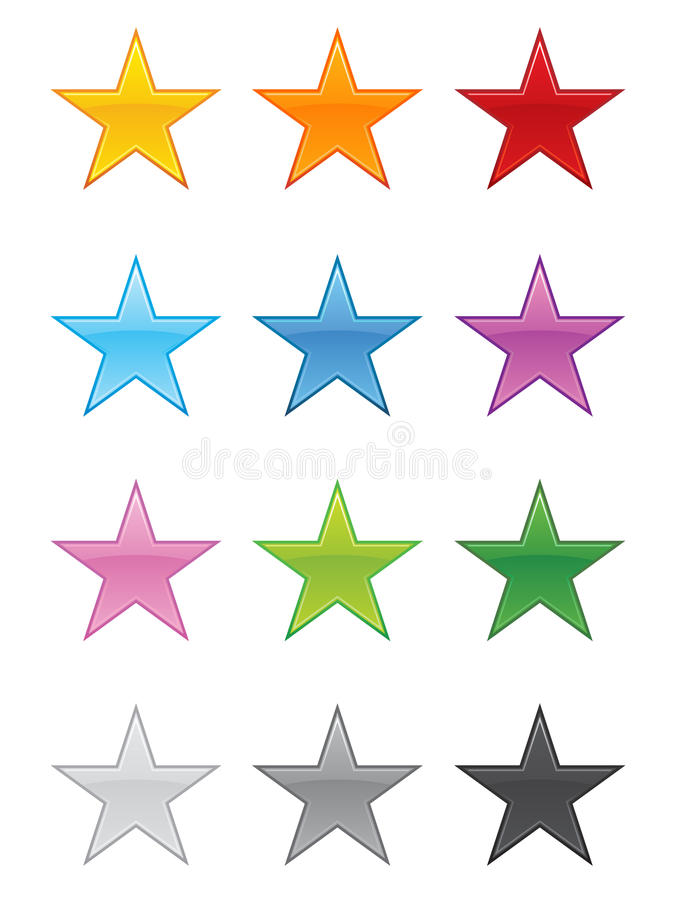 Download Glossy Stars EPS stock vector. Image of button, illustrations - 15586101