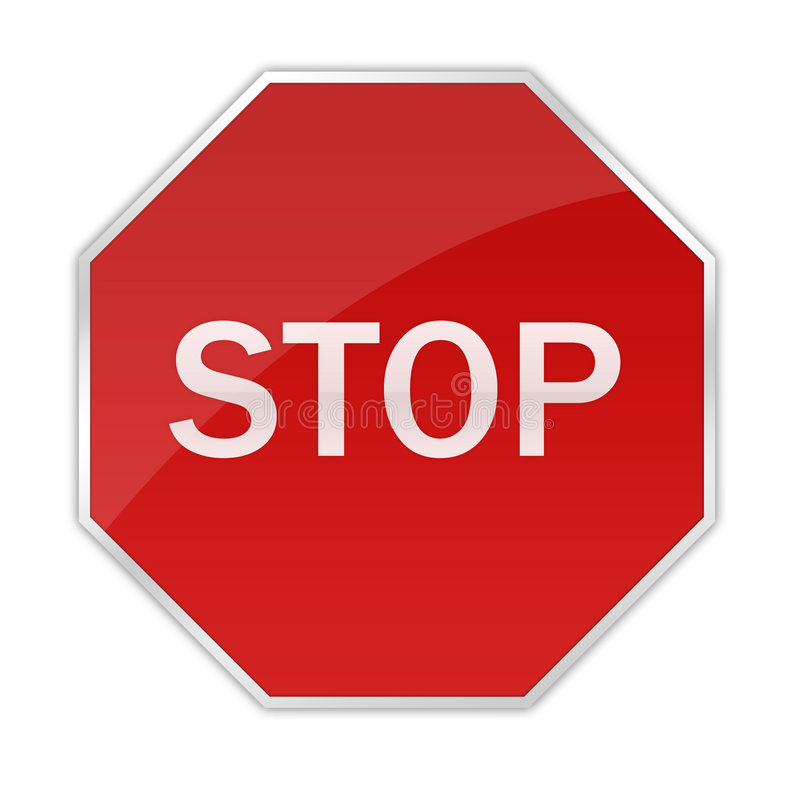 Glossy Stop Sign Royalty Free Stock Photo