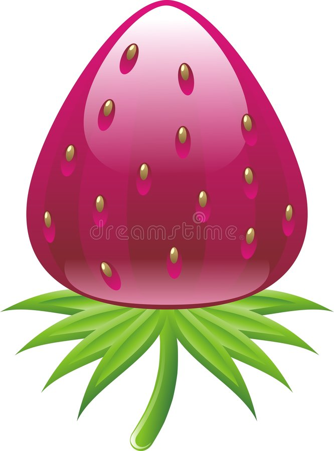 Glossy strawberry