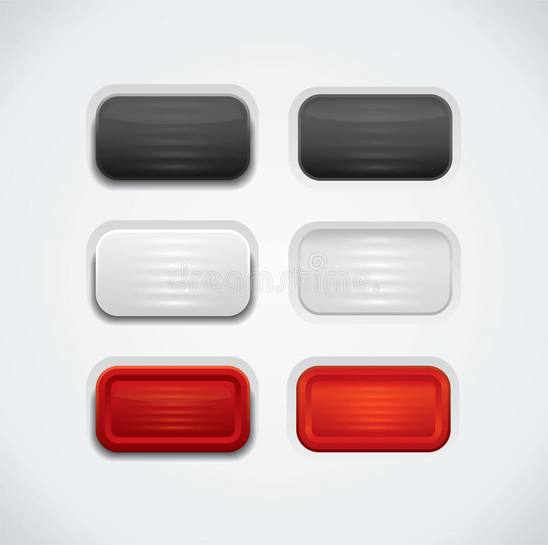 Download Glossy UI buttons stock vector. Image of color, decoration - 34414048