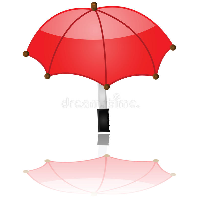 Download Glossy umbrella stock vector. Image of storm, bright - 19469247