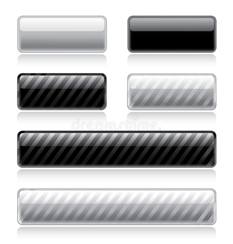 Glossy Web Buttons stock illustration