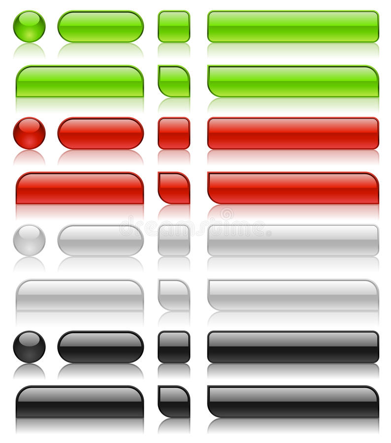 Download Glossy web buttons stock vector. Illustration of long - 14518282