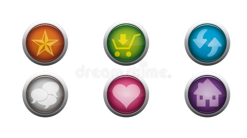 Glossy Web Buttons royalty free illustration