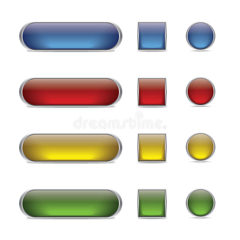 Download Glossy web buttons stock vector. Illustration of reflection - 23956674