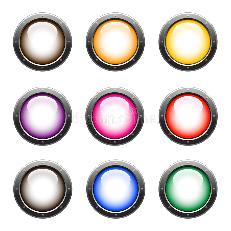 Glossy web buttons vector illustration