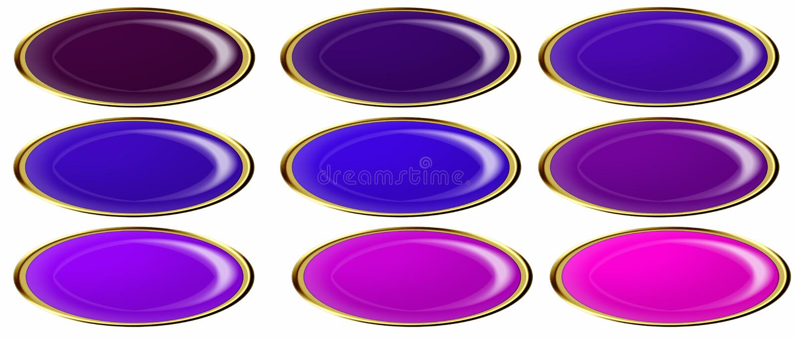 Download Glossy web buttons stock illustration. Image of rich, tint - 6934731
