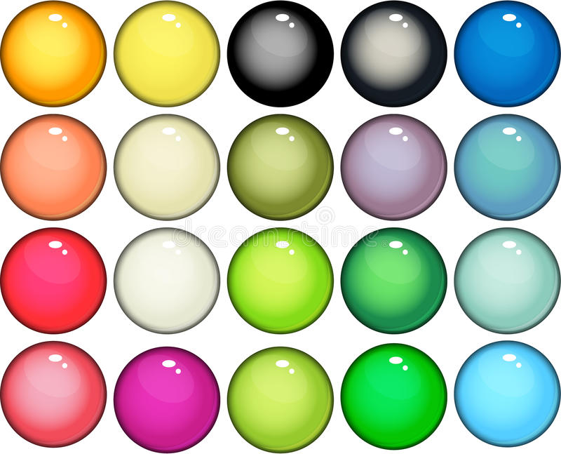 Glossy web buttons icons stock illustration