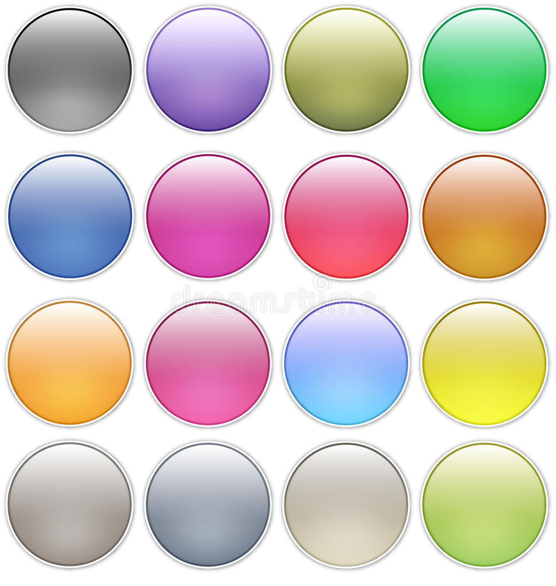 Glossy web buttons icons vector illustration