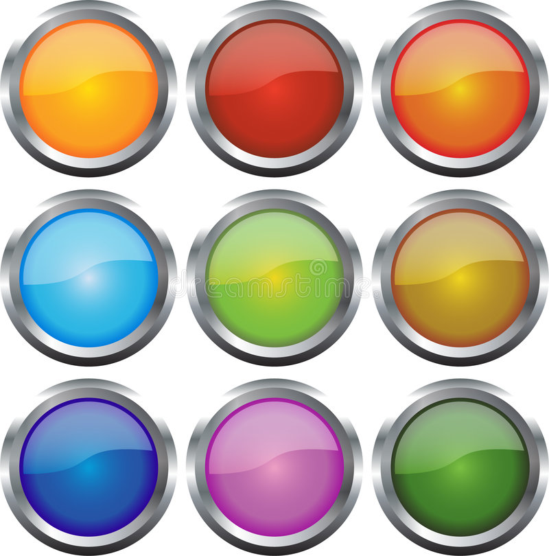 Glossy Web Icons Royalty Free Stock Images