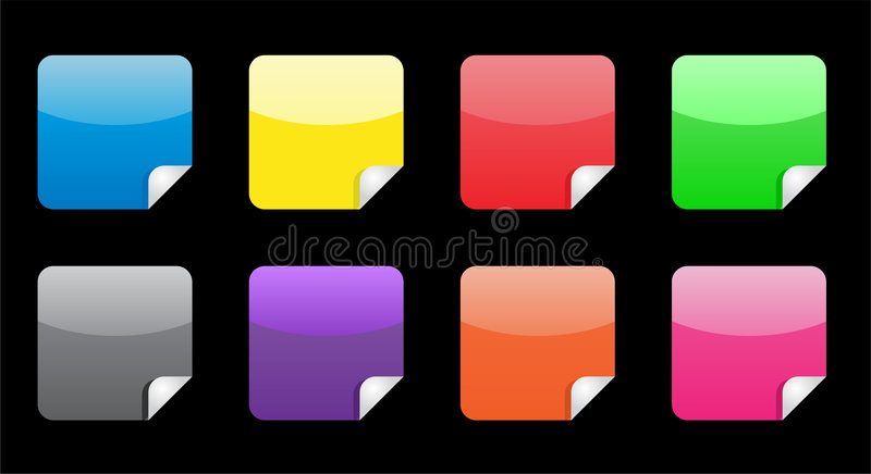 Glossy Web Stickers Royalty Free Stock Photos