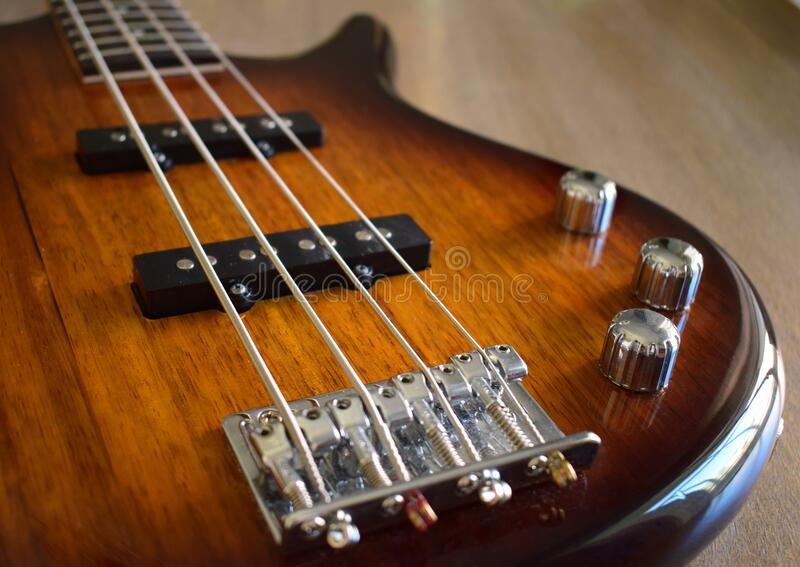 Glossy wood guitar stock photos