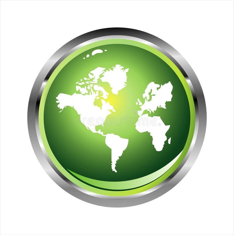 Glossy World sphere stock photo