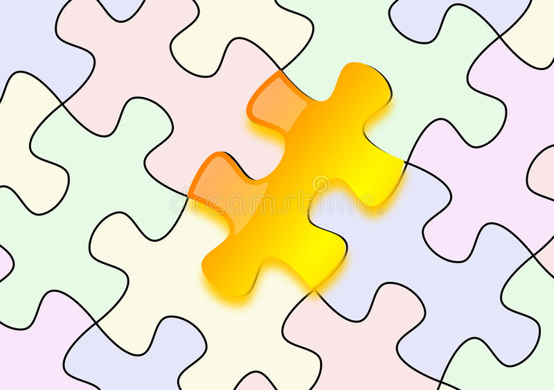 Download Glossy Yellow Puzzle On Paper Stock Images - Image: 23752934