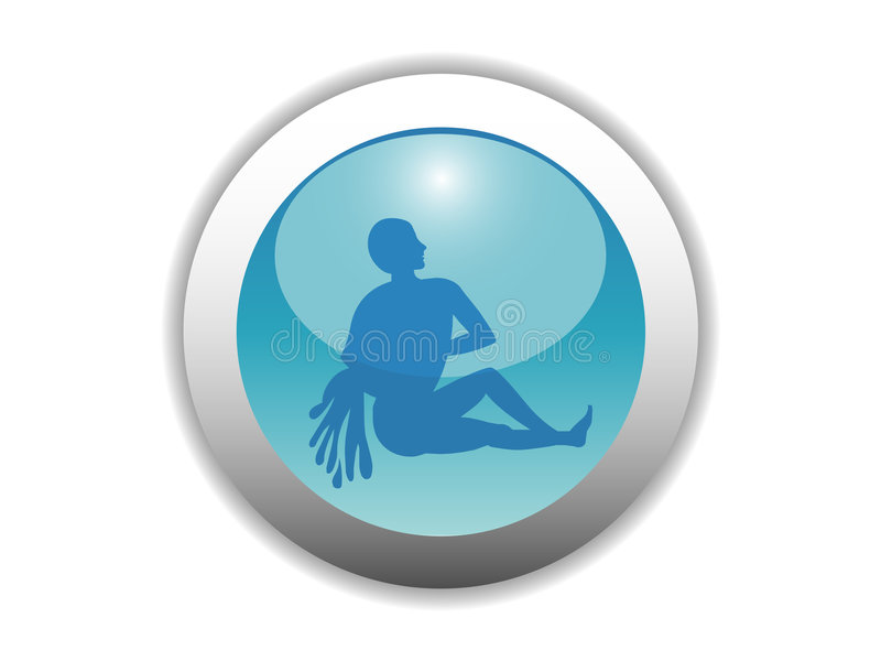 Download Glossy Zodiac Button Icon Royalty Free Stock Images - Image: 4993319
