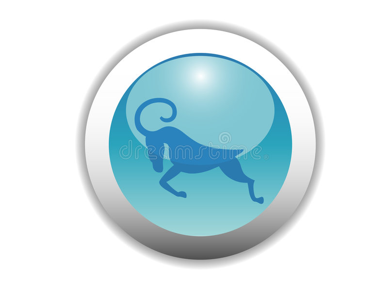 Download Glossy Zodiac Button Icon stock vector. Image of illustration - 4993334