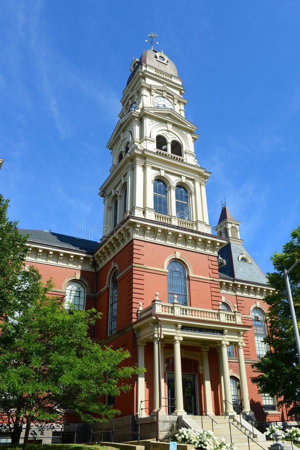 Gloucester City Hall, Massachusetts, USA. Gloucester City Hall was built in 1870 with Victorian and Second Empire style. The building is served as the center of stock photography