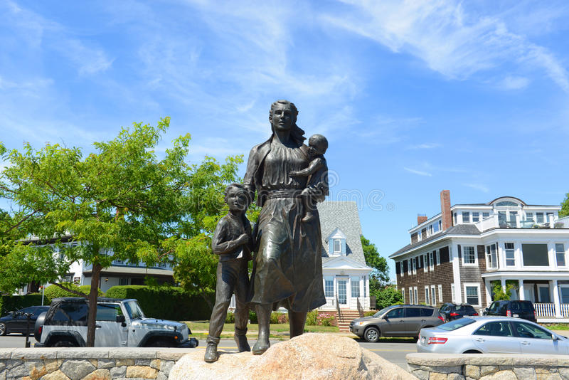 Gloucester Fisherman's Wives Memorial, Massachusetts. Gloucester Fisherman's Wives Memorial located near the entrance of Gloucester, Massachusetts, USA. This stock images