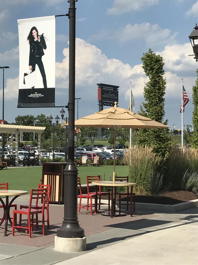 Gloucester Premium Outlets in Blackwood, New Jersey. USA royalty free stock image