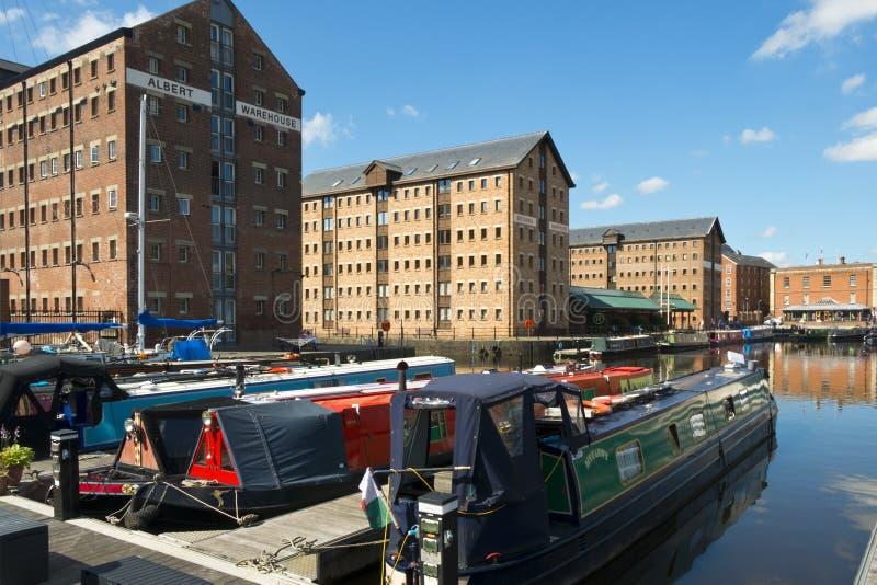 Industrial heritage at Gloucester Docks, Gloucester, UK royalty free stock photo