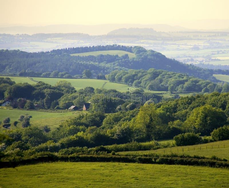 Gloucestershire de l'Angleterre la forêt de doyen comme vu de ruardean photo libre de droits
