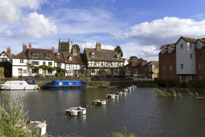 Gloucestershire - Tewkesbury pintorescos foto de archivo libre de regalías